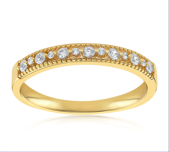 A stacked gold vermeil ring