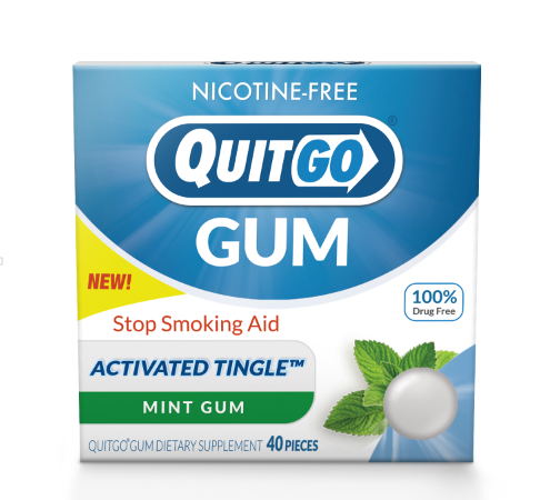 QuitGo® - Nicotine-Free Stop Smoking Gum