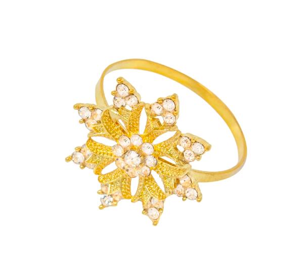 Gold Snowflake Napkin Ring