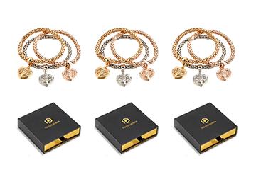 Quot Tol Quot Heart Edition Charm Bracelet With Austrian Crystal