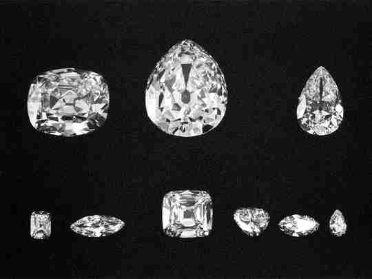 The nine major diamonds cut from the Cullinan
