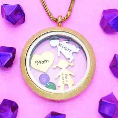 Sparkling Dream Locket Necklace