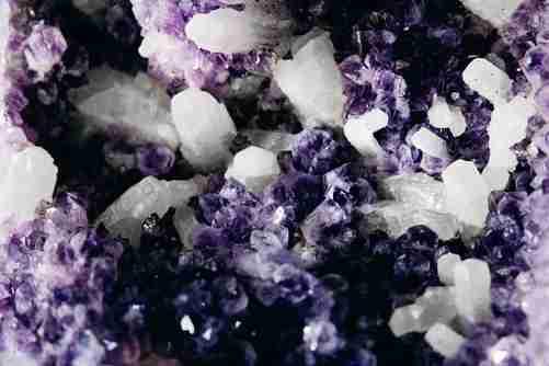 Purple Quartz gemstone close up