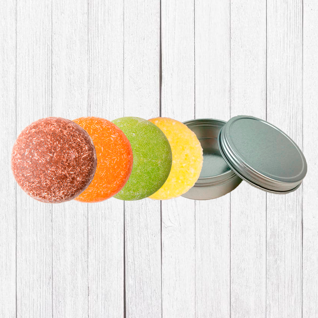 Our Most Popular 4 Pack Shampoo Bar Set + FREE Travel Case