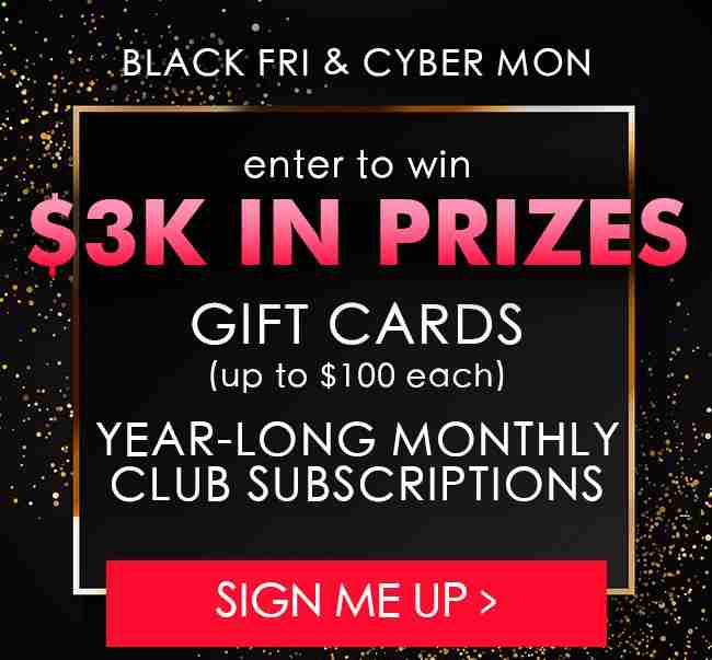 Black Friday Cyber Monday Giveaway!