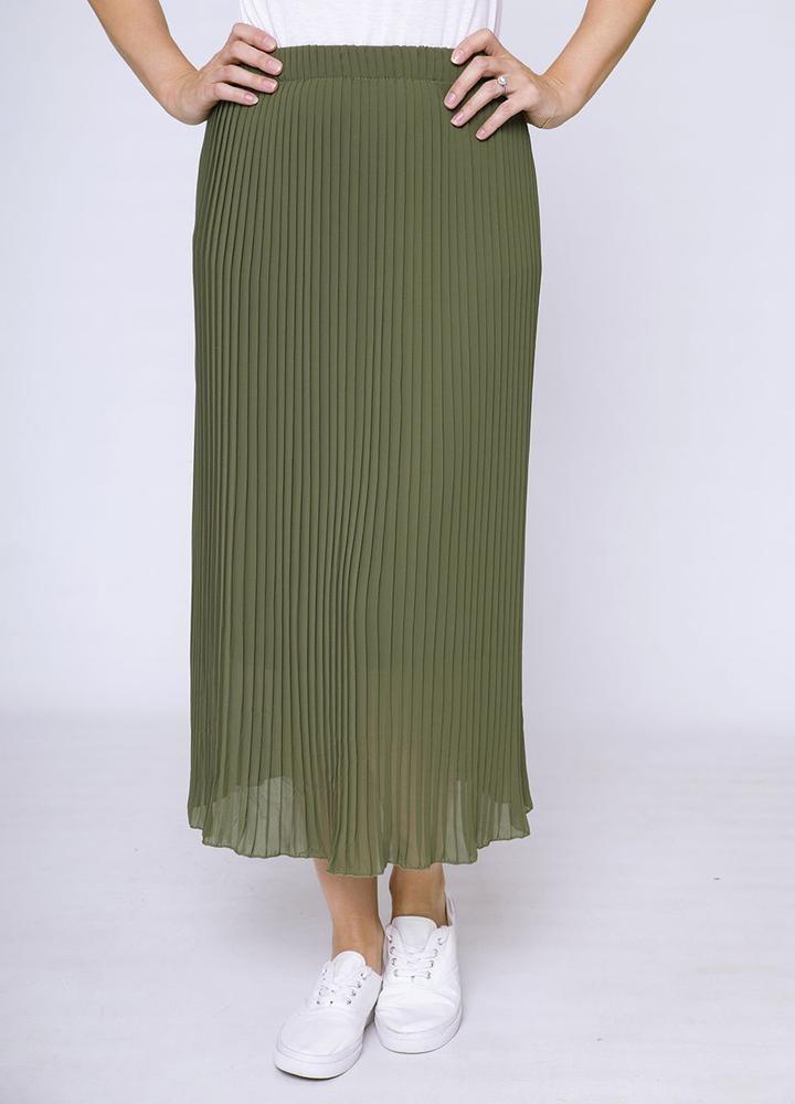 Long Pleat Skirt