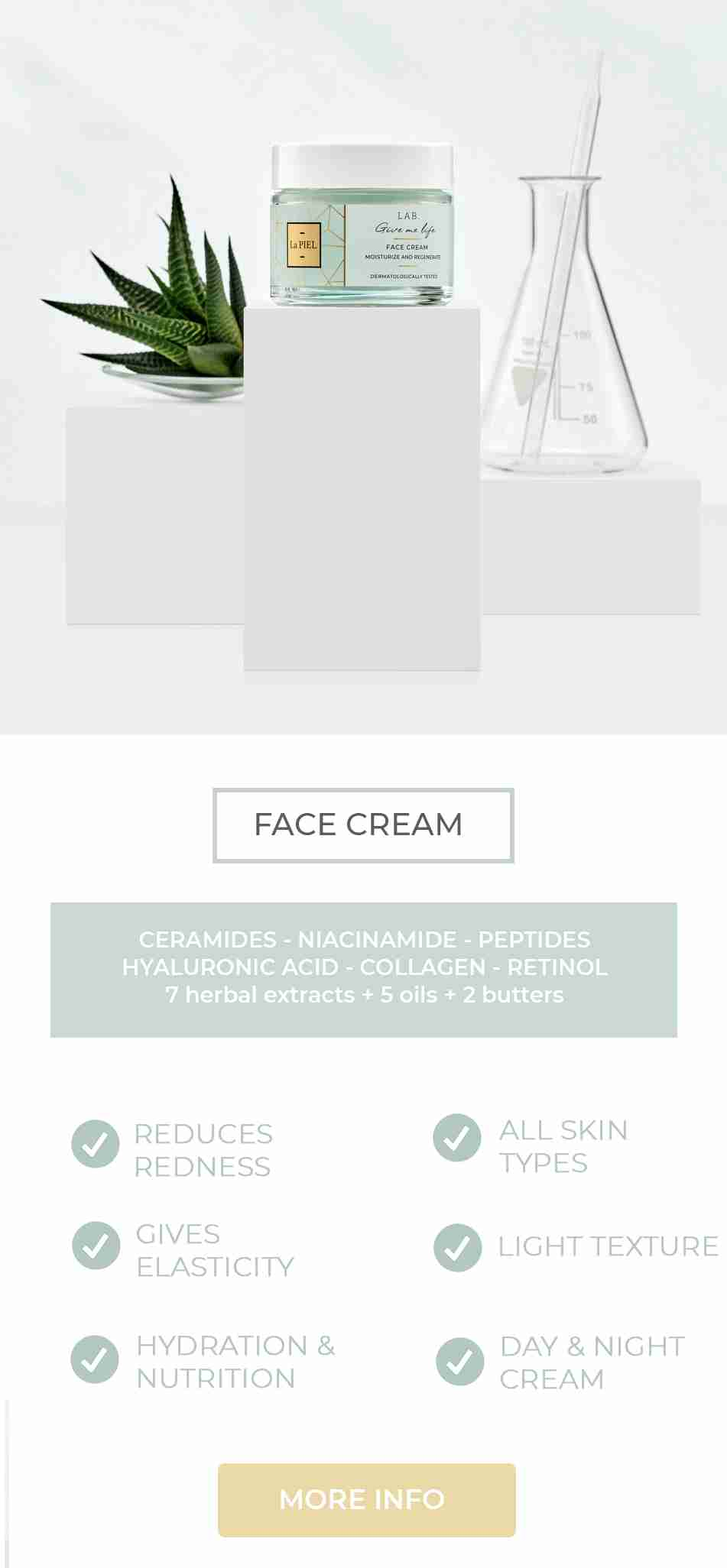 Face cream La PIEL LAB Natural Skincare