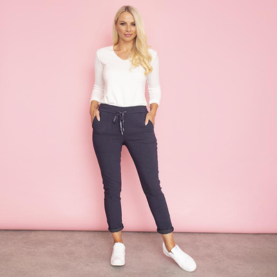 Charlie Relaxed Stretch Jogger (Navy)
