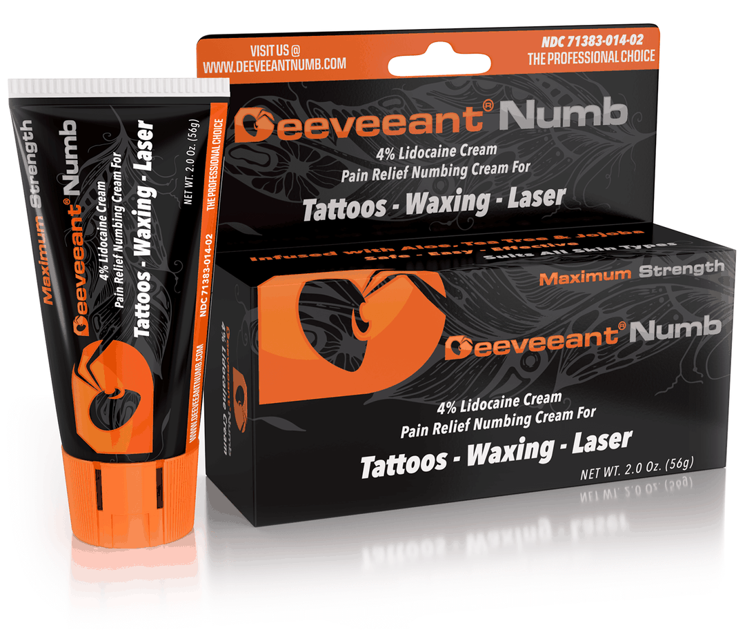 Deeveeant Tattoo, Piercing, Waxing & Laser Lidocaine Numbing Cream Anesthetic