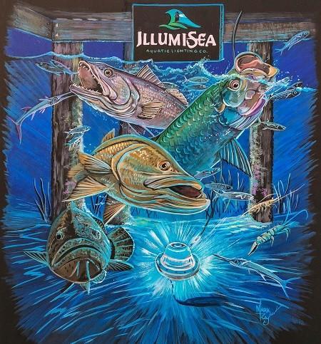 led dock light blue artwork