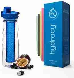 Infuser Water Bottle 25oz - Azure Blue - Bottle & Box