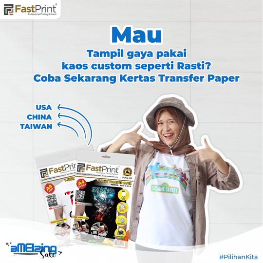 kertas transfer paper, transfer paper fast print, kaos sablon, kaos custom, ngabuburit seru
