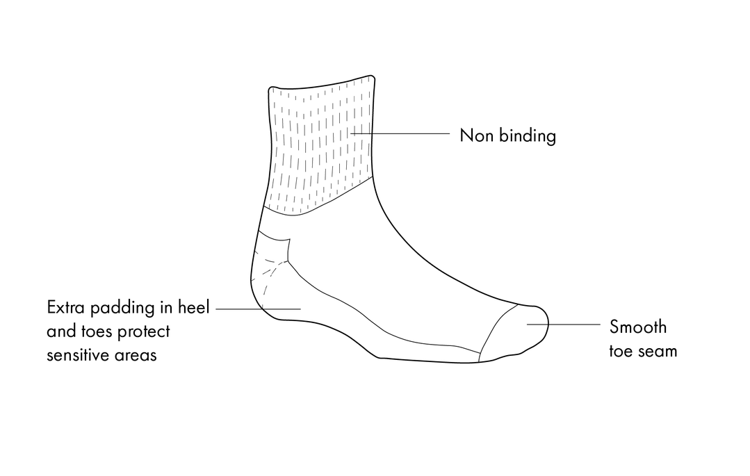 diabetes copper based socks accessories support equipment