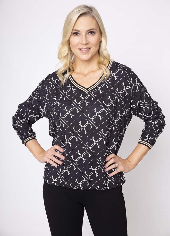 CC Bowling Top in Black