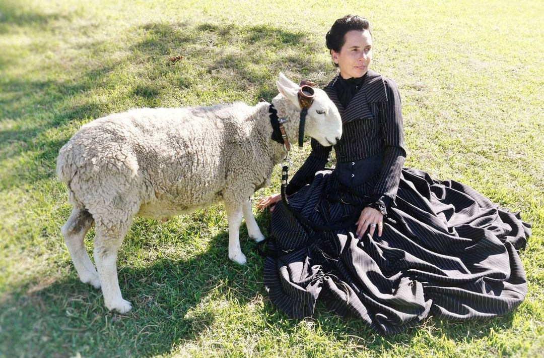 victorian steampunk with Tas O'Brien and Pete the steampunk sheep