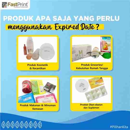 produk yang perlu menggunakan expired date, tanggal kedaluwarsa