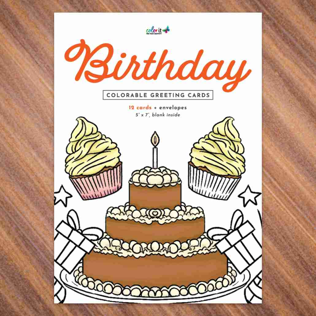 ColorIt Birthday Greeting Cards