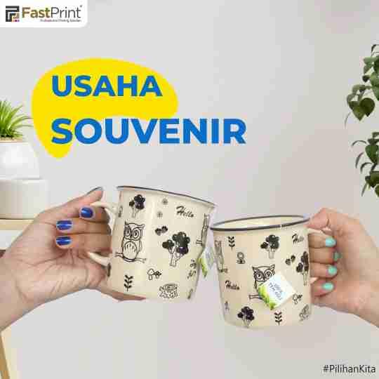 usaha souvenir, souvenir mug