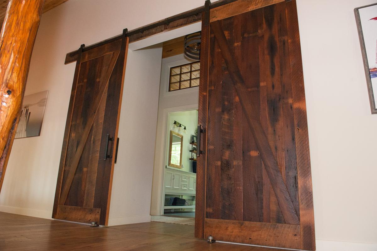 rustic bypass barn doors