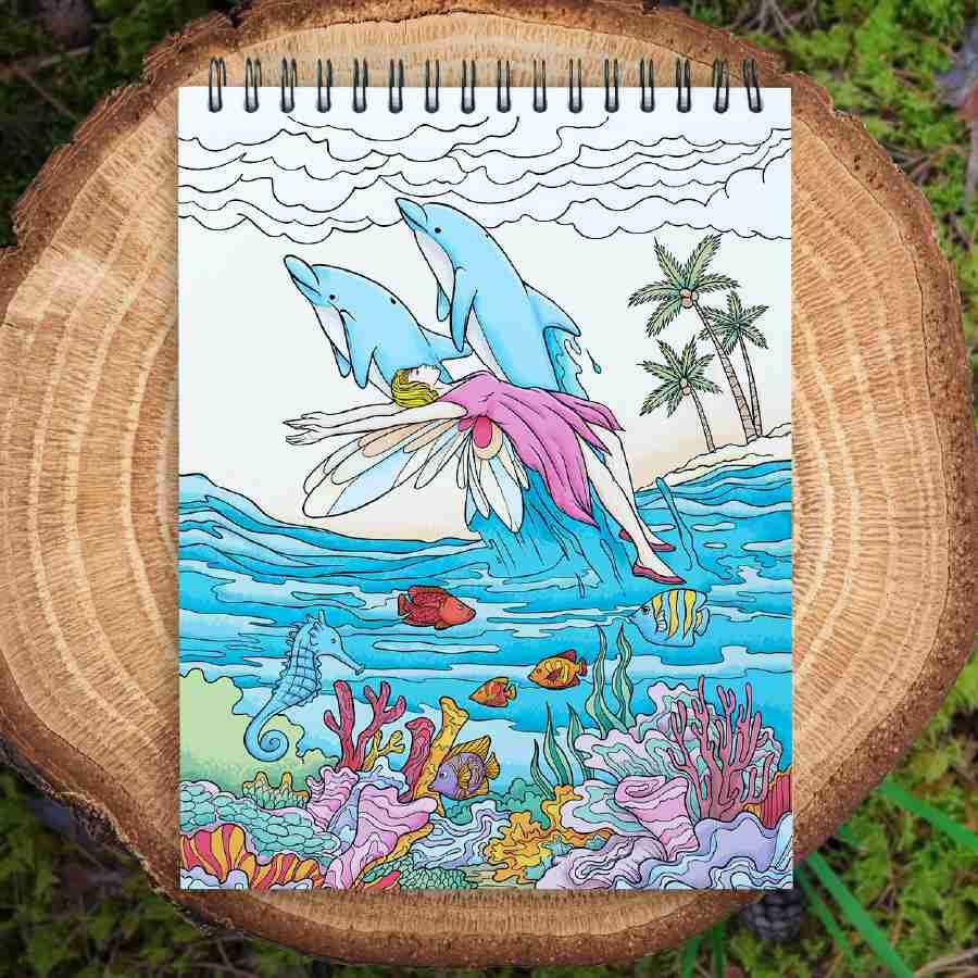 ColorIt Dessert Mandalas Coloring Page