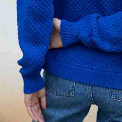 Jude Pullover Sweater in Royal Blue