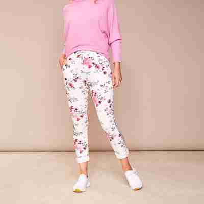 Kelly Floral Joggers(Cerise Pink)