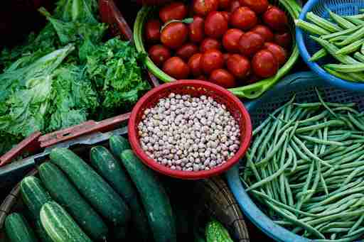 fiber filled veggies vegetables cucumbers beans tomatoes