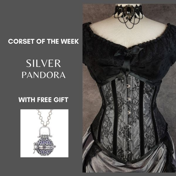 We're a sucker for dark silver greys and this new Corset of the Week cinches us in all the right places