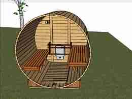 barrel sauna superior design