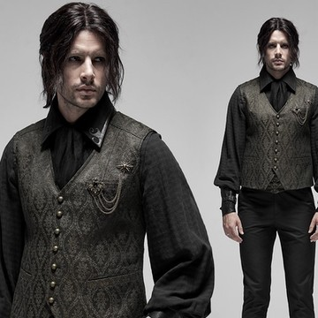immaculately designed and created Gunpowder Gold vest