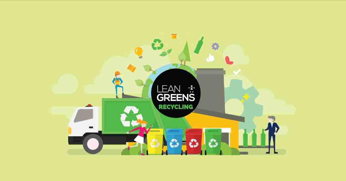 Lean Greens Recycling Bin Lorry and Bins