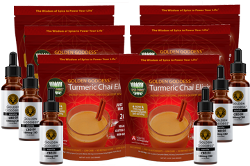 Golden Goddess CBD Oil & Turmeric Chai Elixir 6 Pairs