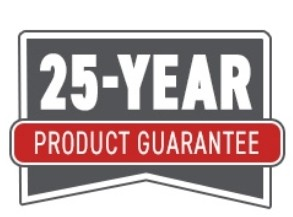 25 Year Product Guarantee!