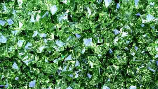 Green diamond crystals