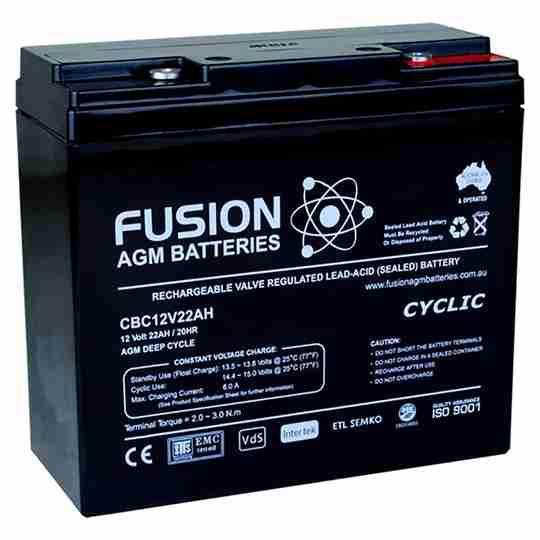 Fusion 12V 22Ah Deep Cycle AGM Battery
