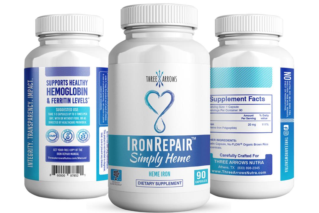 Iron Repair Simply Heme iron pills easy on stomach