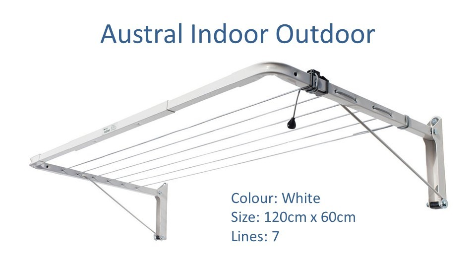 austral indoor outdoor 130cm by 60cm clothesline