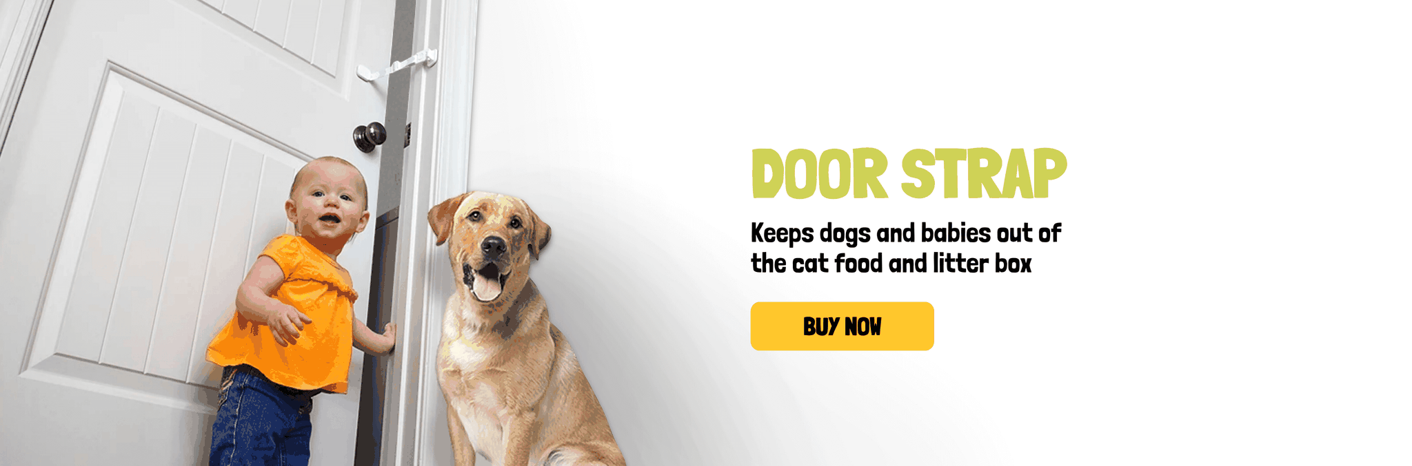 Door Buddy Door Strap Keeps Dogs and Babies out of Cat Food and Litter Box