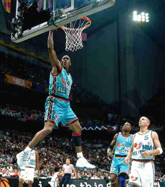 Michael Jordan in the original Columbia Air Jordan 11