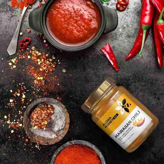 Hawaiian hot - honey infused with fresh chili!