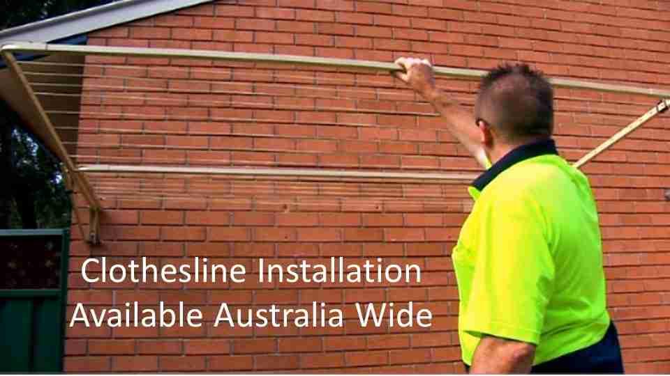 290cm wide clothesline installation service Australia