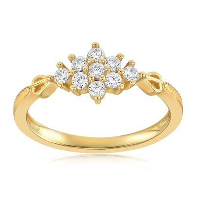 Sarah Snowflake Dainty Ring by Blush & Bar