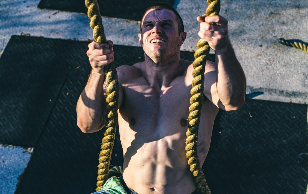 An athlete using complex training to build explosive strength and power.