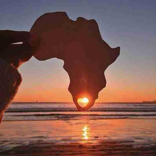 Rooibos Rocks south africa sunset