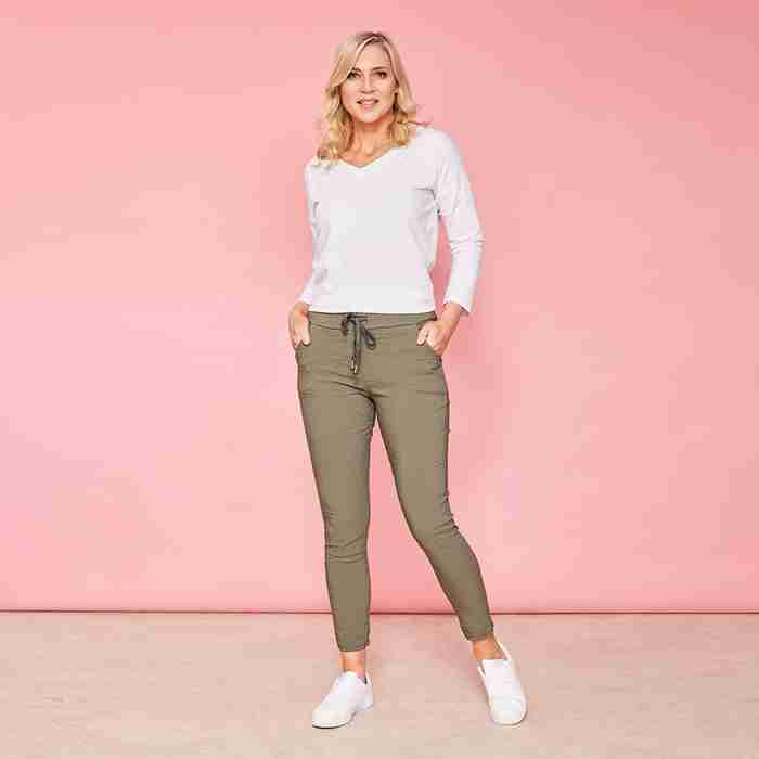 Charlie Relaxed Stretched Jogger(Khaki)