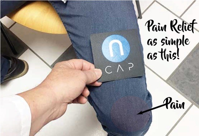 ncap pain relief as easy as sitting it on top of your knee