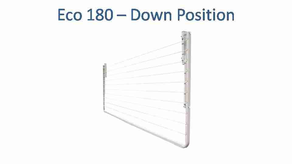 eco 180 1700mm wide clothesline folded down