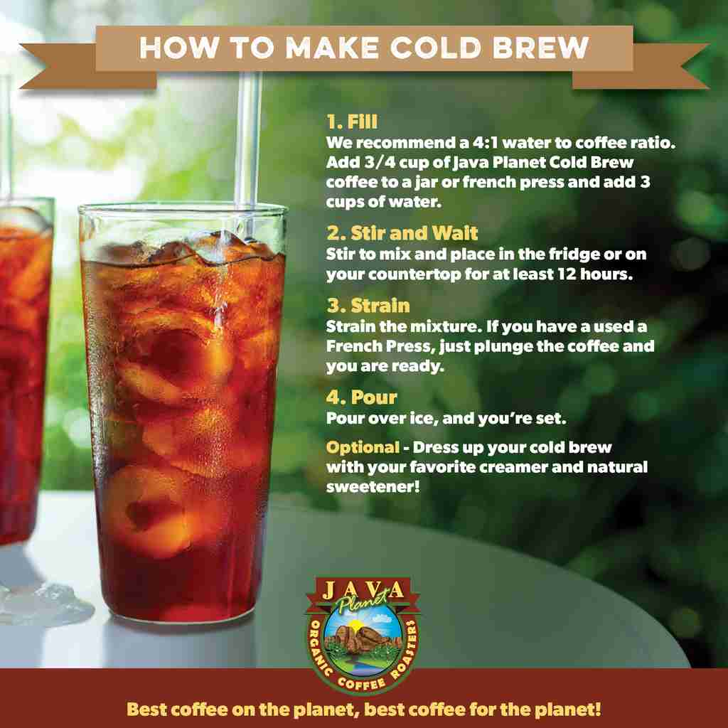 how to brew cold brew ratio for cold brew coffee