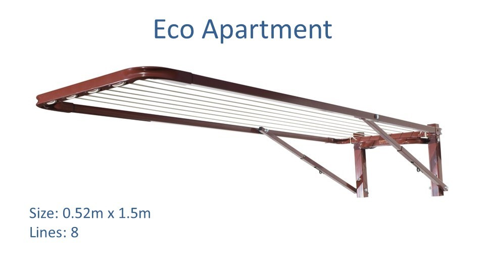 eco apartment clothesline 0.52m wide x 1.5m deep