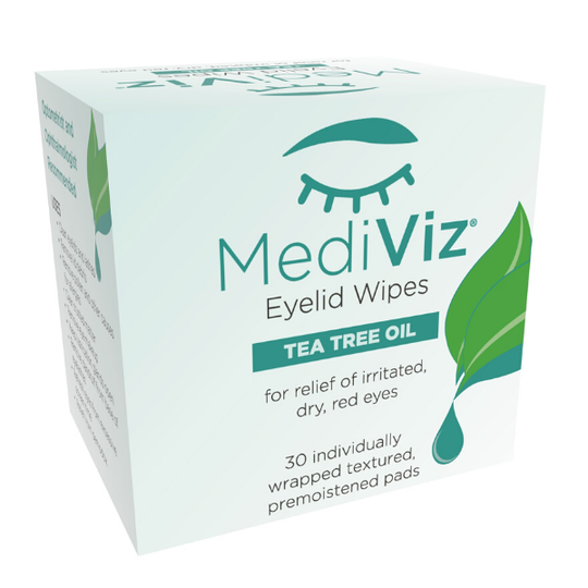MediViz Eyelis Wipes with Tea Tree